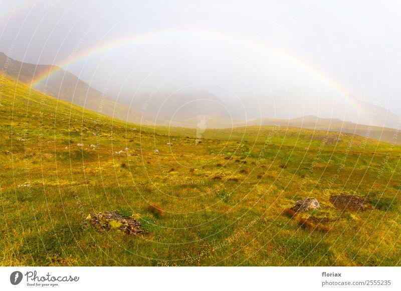 Regenbogen auf Island II / IV Freizeit & Hobby Ferien & Urlaub & Reisen Tourismus Ausflug Abenteuer Ferne Freiheit Berge u. Gebirge wandern Umwelt Natur