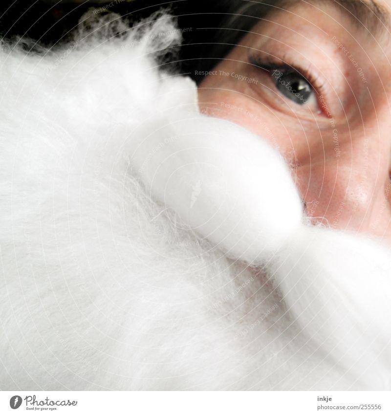 Ich wünsche mir vom Weihnachtsmann... Mensch Weihnachten & Advent weiß Erwachsene Gesicht Leben Gefühle Freizeit & Hobby außergewöhnlich Lifestyle Wunsch Neugier nah Freundlichkeit Weihnachtsmann Bart