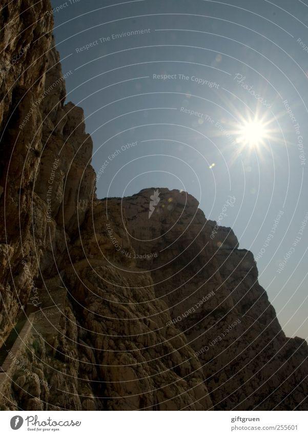 sparkling Himmel Natur Sonne Umwelt Landschaft Berge u. Gebirge Stein hell Erde glänzend Felsen Perspektive Stern (Symbol) leuchten Urelemente Klettern