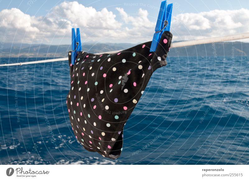 sail away Wasser Sonne Meer Ferien & Urlaub & Reisen Sommer schwarz Ferne Erholung Freiheit Küste Wellen Freizeit & Hobby Wind fliegen Ausflug Schwimmen & Baden