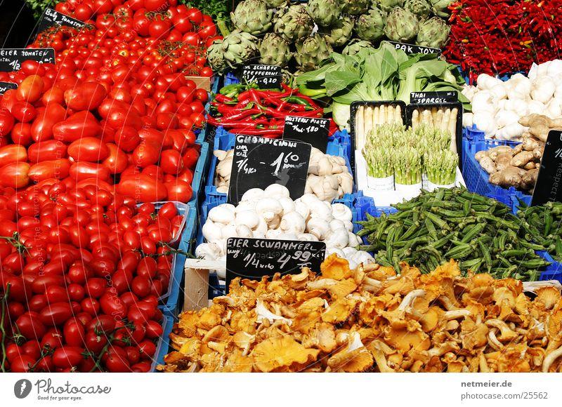 Gemüseüse Gesundheit Markt Farbe Frucht Naschmarkt. Wien Pilz Spargel Tomate Zwiebel