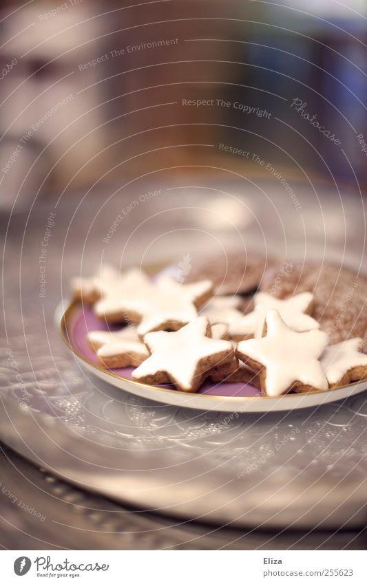 Naschen erlaubt Kaffeetrinken Plätzchen Zimtstern Lebkuchen lecker Weihnachten & Advent Ernährung schön Backwaren weihnachtsteller Süßwaren Weihnachtsgebäck