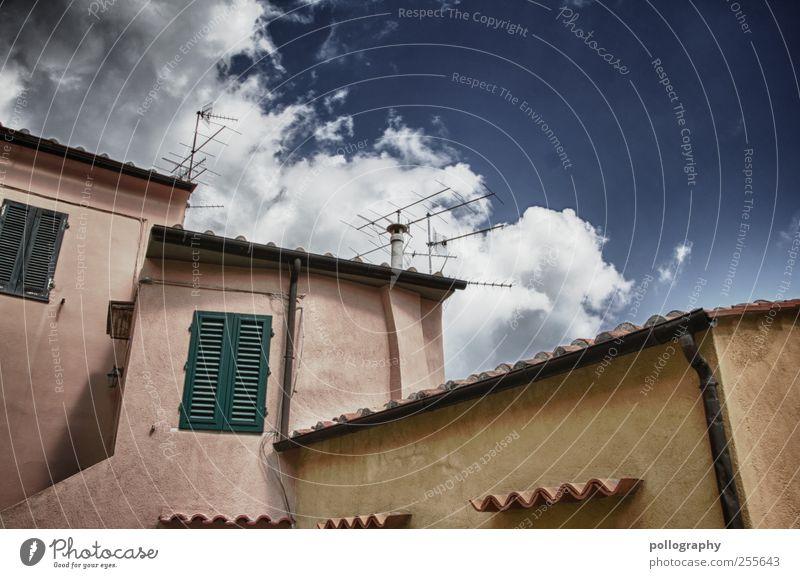 Siesta Himmel Ferien & Urlaub & Reisen Sommer Wolken ruhig Haus Erholung Fenster Wand Architektur Gebäude Mauer rosa Wohnung Pause Häusliches Leben