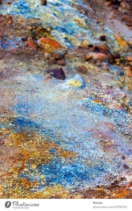 Farben auf Island Natur Ferien & Urlaub & Reisen blau Wasser Landschaft Wärme Umwelt außergewöhnlich Stein orange braun Ausflug Erde Luft ästhetisch Abenteuer