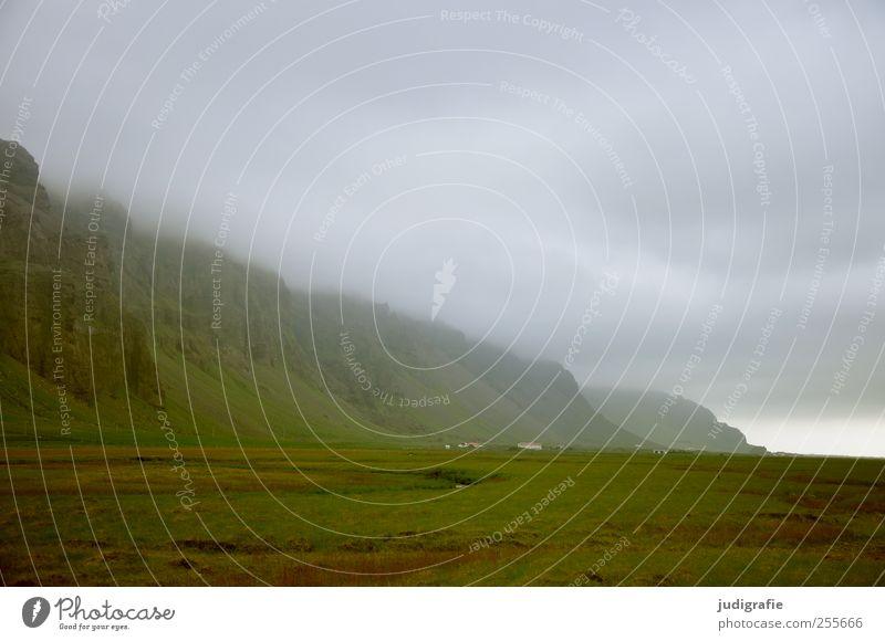 Island Umwelt Natur Landschaft Himmel Wolken Klima schlechtes Wetter Unwetter Hügel Felsen Berge u. Gebirge außergewöhnlich bedrohlich dunkel kalt wild Stimmung