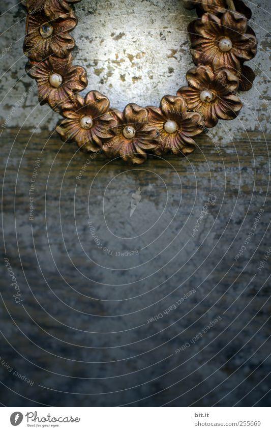 totale ADVENTSFINSTERNIS Weihnachten & Advent alt Blume Holz Blüte Feste & Feiern gold Wohnung Kreis leuchten rund Dekoration & Verzierung Kitsch Perle antik