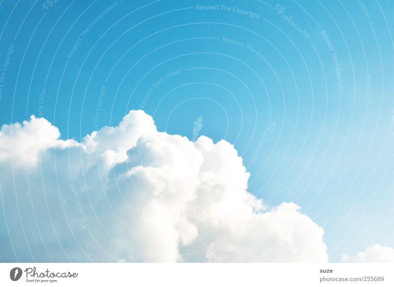 Haufenwolke Umwelt Urelemente Luft Himmel Wolken Klima Wetter Schönes Wetter authentisch schön weich blau weiß himmlisch Kumulus Hintergrundbild Wolkenformation