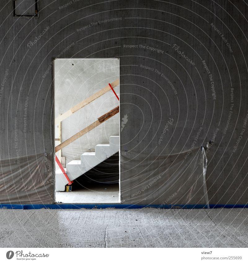 beton bau Haus Wand Architektur grau Stein Mauer Fassade Beton Treppe authentisch Baustelle Bodenbelag einfach fest bauen
