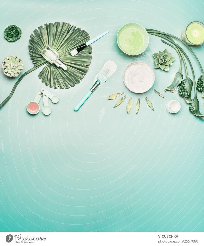 Naturkosmetik Gesichtspflege Hautpflege Hintergrund Lifestyle kaufen Stil Design schön Kosmetik Creme Gesundheit Wellness Spa Pflanze Blume
