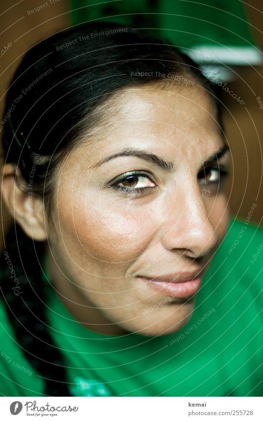 Nummer 4 - 5 Mensch Jugendliche grün schön Gesicht Erwachsene Auge Leben feminin Kopf Haare & Frisuren Kraft Zufriedenheit Freizeit & Hobby Mund Nase