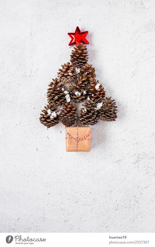 Weihnachtshintergrund Winter Schnee Dekoration & Verzierung Schreibtisch Weihnachten & Advent Silvester u. Neujahr PDA Baum Paket authentisch schön Kreativität