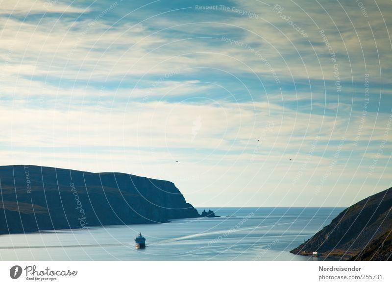Fernwehbild blau Ferien & Urlaub & Reisen Meer ruhig Ferne Erholung Landschaft Freiheit Beginn Hoffnung Urelemente beobachten Duft Meditation harmonisch