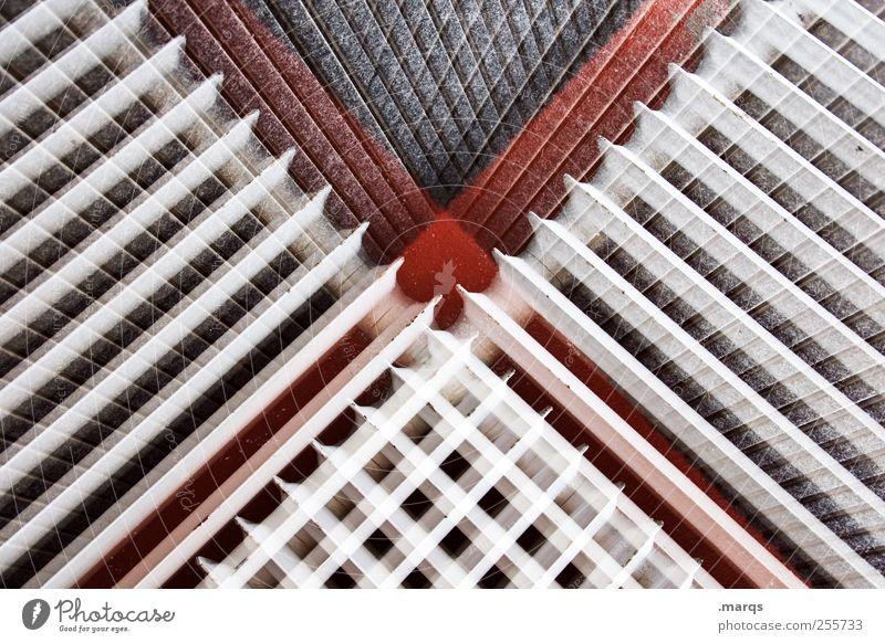 Shy x weiß rot schwarz Stil Linie Design verrückt außergewöhnlich Lifestyle Coolness einzigartig Doppelbelichtung Surrealismus Symmetrie Heizkörper