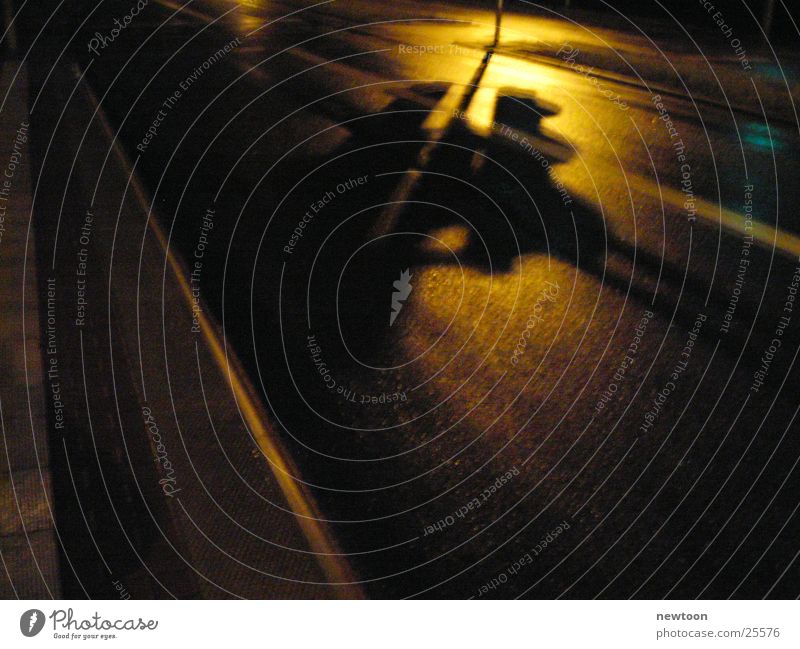 Ampel Nacht Stil Makroaufnahme Nahaufnahme Straße Shadow Schatten