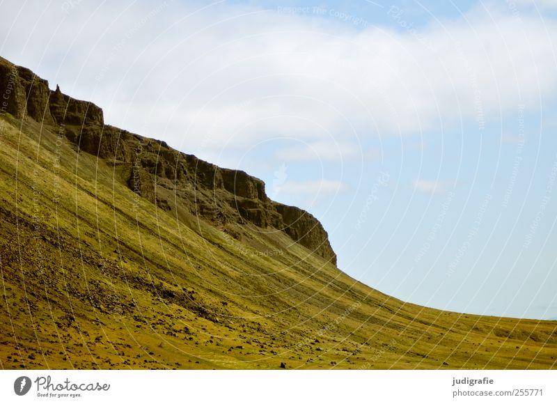 Island Himmel Natur Umwelt Landschaft Berge u. Gebirge Felsen natürlich wild Hügel Island