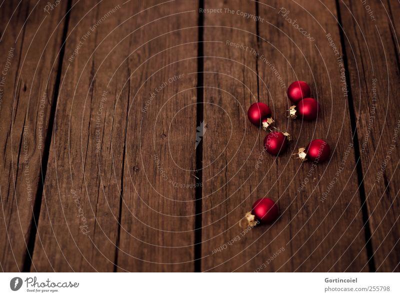 Christmas Baubles Weihnachten & Advent schön rot Holz braun Dekoration & Verzierung Christbaumkugel Weihnachtsdekoration festlich Baumschmuck