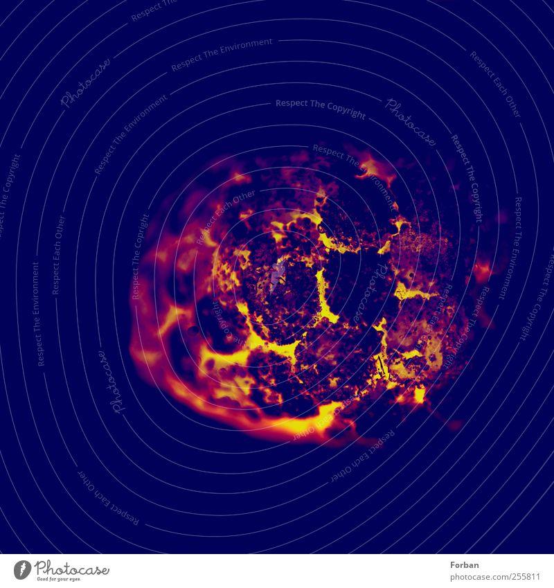 Lava Natur Urelemente Feuer Wärme Vulkan gelb gold rot schwarz bizarr Endzeitstimmung Energie Surrealismus Wandel & Veränderung Glut heiß Farbfoto Makroaufnahme