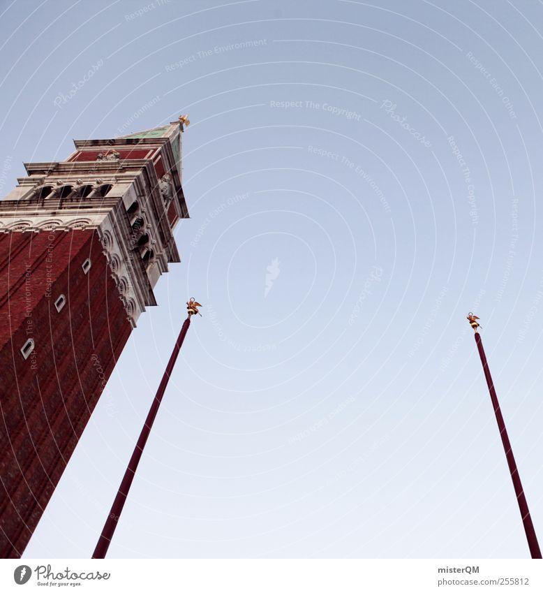 Der Markus. Himmel Ferien & Urlaub & Reisen Tourismus Venedig Städtereise Kirchturmspitze San Marco Basilica Campanile San Marco