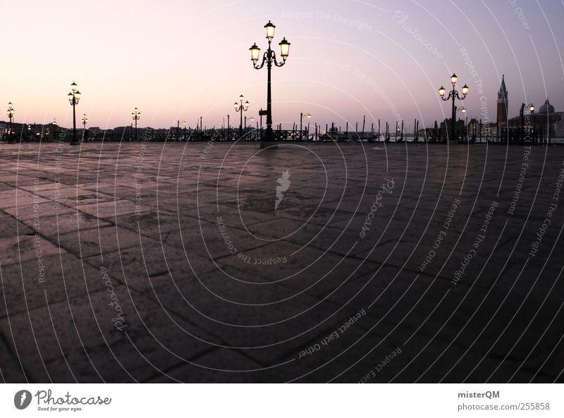 Good Morning Venice. Stadt Ferien & Urlaub & Reisen Kunst rosa Platz ästhetisch Boden Romantik Kultur Reisefotografie Idylle Ewigkeit Laterne Momentaufnahme