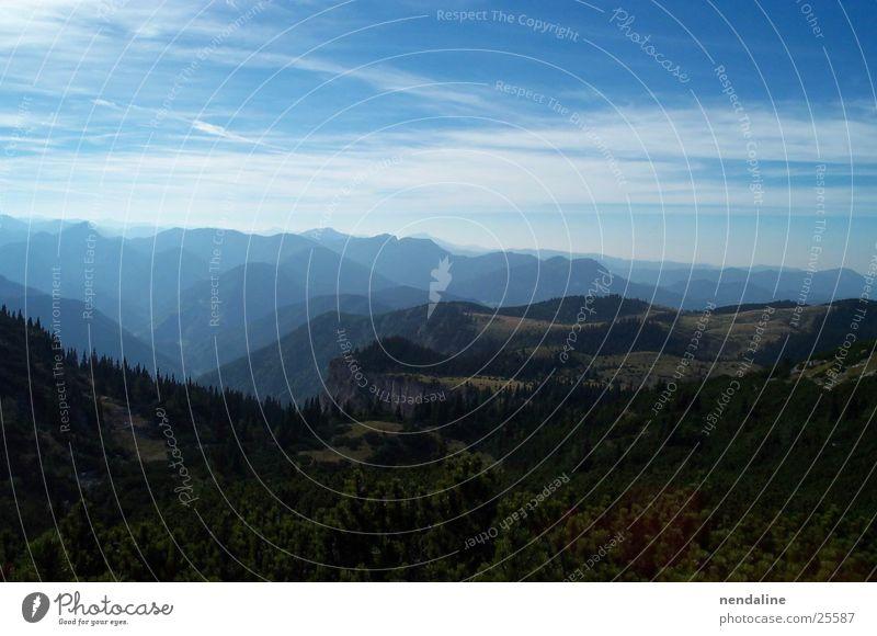 Berglandschaft Himmel Wolken Berge u. Gebirge Gipfel