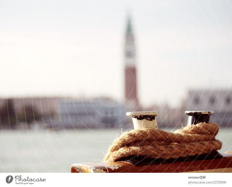 Hafenstadt. Kunst Abenteuer ästhetisch Venedig Städtereise San Marco Basilica Campanile San Marco Küste Schifffahrt Kreuzfahrt Seil Tourismus