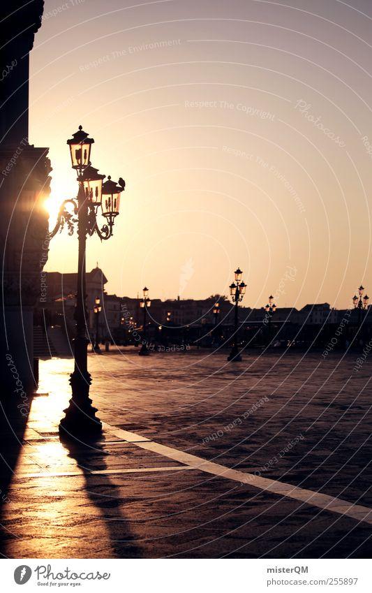 Morgenlicht. Kunst ästhetisch Romantik Sonne ruhig Idylle friedlich Laterne Veneto San Marco Basilica Markusplatz Hafenstadt Tourismus Fernweh