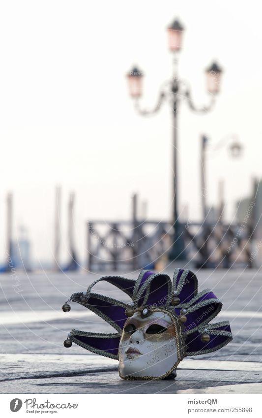 Mystery of Venice IV Kunst ästhetisch außergewöhnlich Maske Karneval Laterne Gemälde Veranstaltung mystisch anonym Karnevalskostüm vergessen Venedig Kostüm verkleiden Kunstwerk