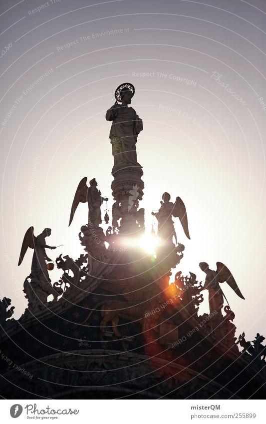 From Heaven. Skulptur ästhetisch Glaube Religion & Glaube Glaubensfeldzug Hoffnung Hoffnungsstrahl Gott Gotteshäuser Gottesdienst gottverlassen Patron heilig