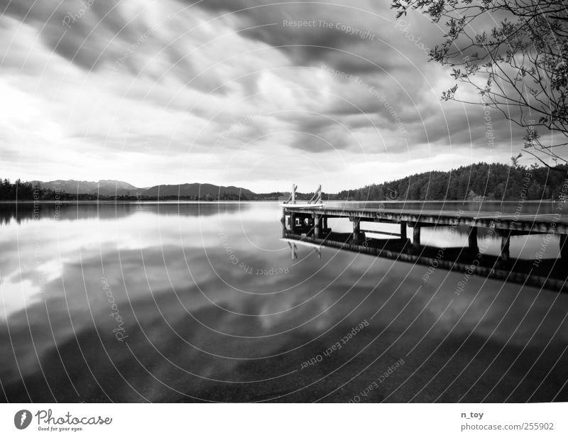 Moorsee II Himmel Natur Wasser Sonne Ferien & Urlaub & Reisen Sommer Wolken Einsamkeit Wald Erholung Freiheit Berge u. Gebirge Gefühle Stimmung See Ausflug