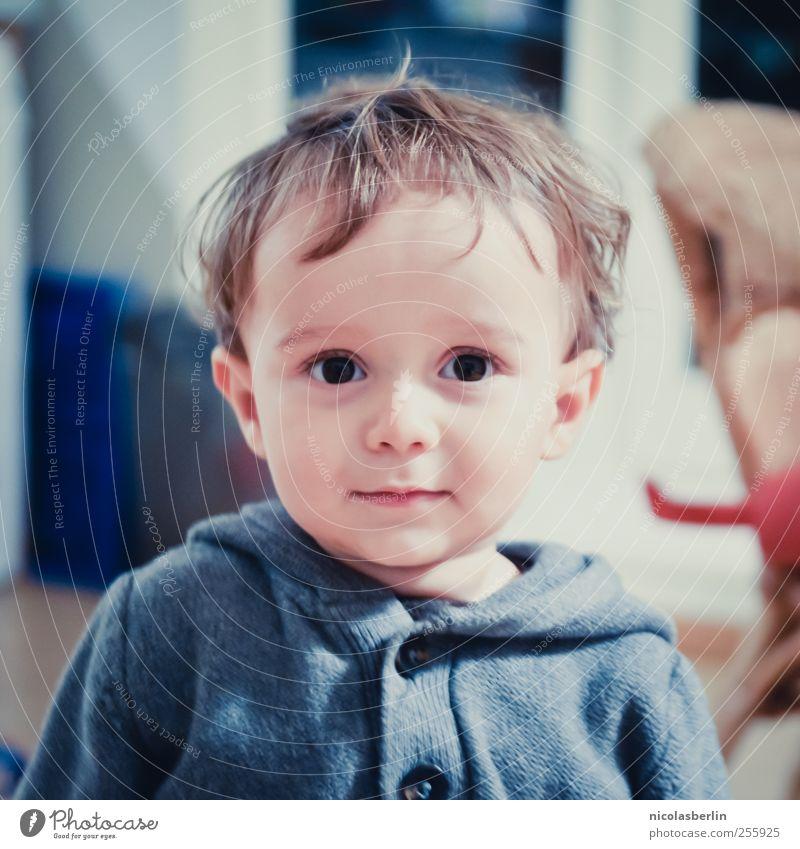 Montags Portrait 12 Mensch Kind schön Erholung Leben Spielen Junge Freundschaft Kindheit süß Coolness niedlich weich beobachten Lächeln Kleinkind