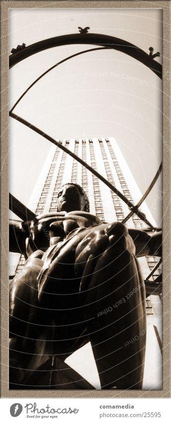 Der Weltträger New York City Hochhaus Skulptur Kunst Architektur Erde