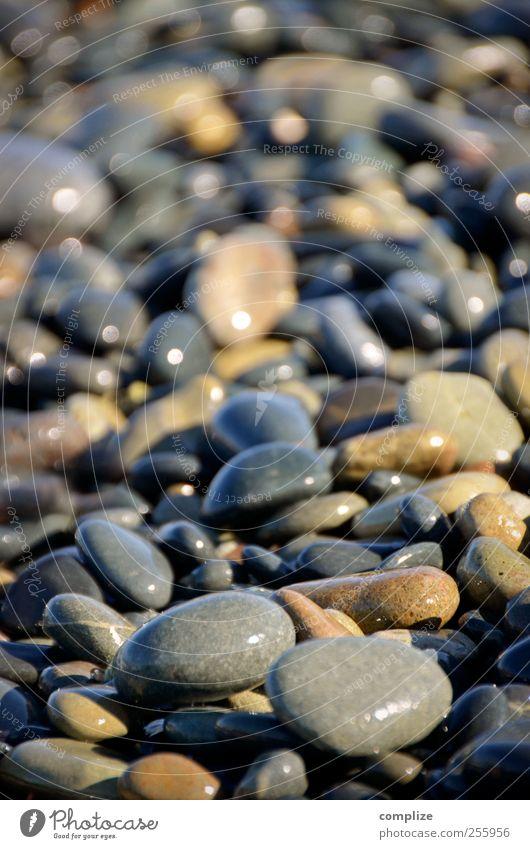 Steine Wasser Ferien & Urlaub & Reisen ruhig Erholung Umwelt grau Küste Stein Wellen Zufriedenheit Erde nass Schwimmen & Baden Wellness Seeufer Wohlgefühl