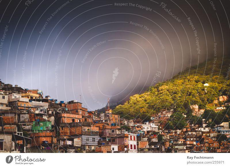 ° exotisch Ferien & Urlaub & Reisen Tourismus Ausflug Abenteuer Ferne Sommer Wohnung Rio de Janeiro Brasilien Südamerika Stadt Stadtrand überbevölkert Haus