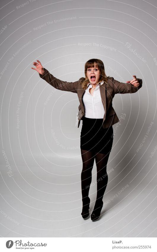 karrieresprung Mensch Jugendliche schön Erwachsene feminin sprechen grau Büro blond Fröhlichkeit lernen Geschwindigkeit außergewöhnlich Bildung Student