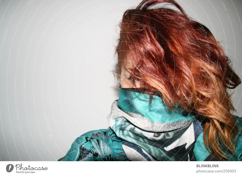 flammrouge Lifestyle Design Haare & Frisuren Nachtleben Veranstaltung Musik Feste & Feiern feminin Junge Frau Jugendliche Kopf 1 Mensch 18-30 Jahre Erwachsene