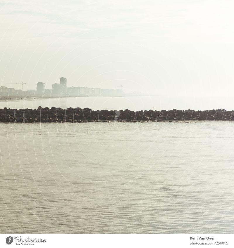 Minimalistische Küste Umwelt Natur Landschaft Wasser Nordsee Stimmung Gelassenheit ruhig leer Sauberkeit minimalistisch Wohnung Gedeckte Farben Außenaufnahme