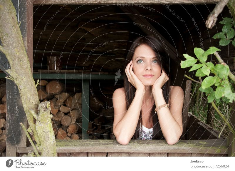 #256024 Frau Mensch schön Pflanze Ferien & Urlaub & Reisen Blatt Erwachsene Gesicht Erholung Garten Wärme Denken träumen Zufriedenheit Freizeit & Hobby