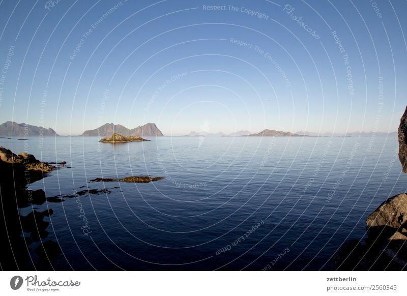 Høla vor Kabelvåg, slight return Polarmeer Europa Felsen Ferien & Urlaub & Reisen Fjord Himmel Himmel (Jenseits) Horizont Insel Landschaft Lofoten maritim Meer