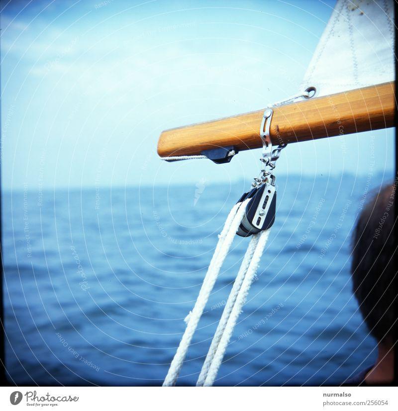 Großbaumende Mensch Natur Wasser Ferien & Urlaub & Reisen Freude Ferne Freiheit Kopf Haare & Frisuren Küste Wellen Wind Freizeit & Hobby Abenteuer Tourismus