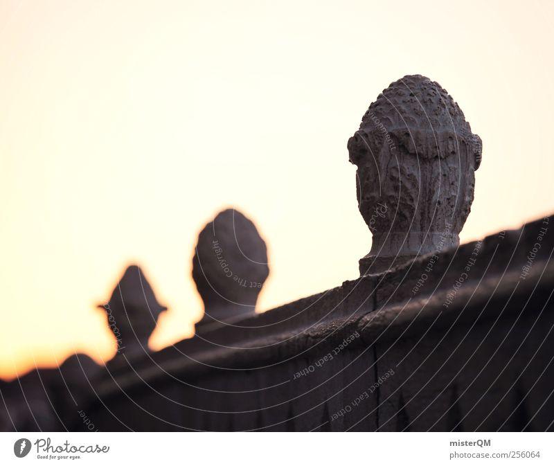 Geländer. Kunst Skulptur ästhetisch Sandstein Architektur Venedig Dekoration & Verzierung Brückengeländer Detailaufnahme ruhig aufwachen abgelegen Handwerk