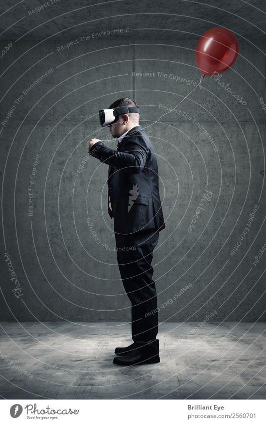 VR Brille meets Höhenflieger Mensch Jugendliche Mann Freude 18-30 Jahre Lifestyle Erwachsene Business Freiheit Arbeit & Erwerbstätigkeit fliegen maskulin frei