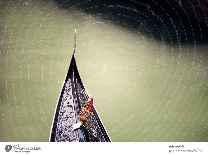 Bug. Kunst ästhetisch Wasserfahrzeug Gondel (Boot) Venedig Veneto Gewässer Kanal Canal Grande Tourismus Ferien & Urlaub & Reisen Urlaubsstimmung Urlaubsfoto