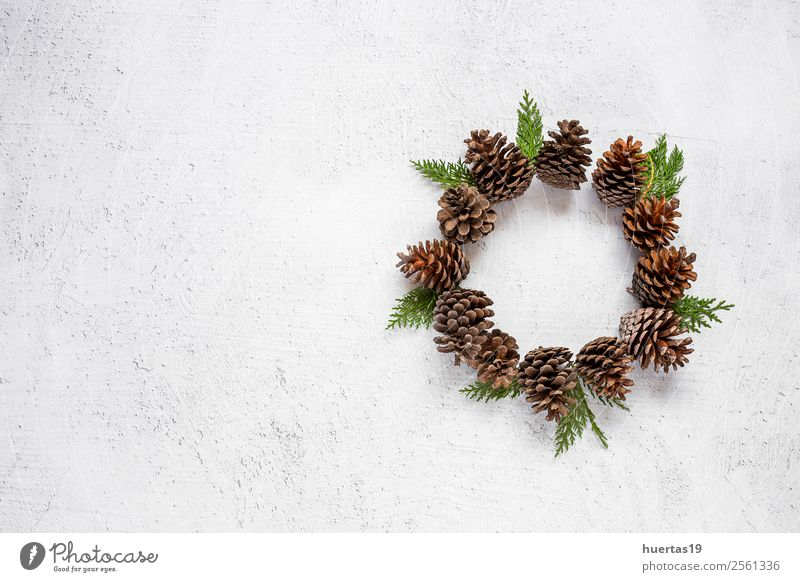 Weihnachtshintergrund mit Dekorationen Lifestyle Winter Schnee Dekoration & Verzierung Schreibtisch Weihnachten & Advent Silvester u. Neujahr PDA Kunst Baum