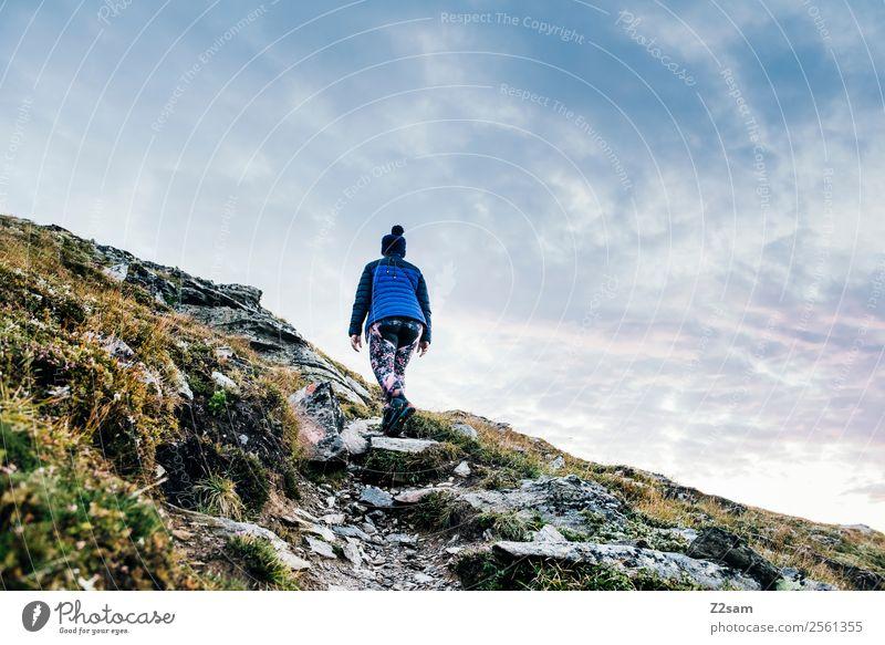 Venet Gipfel | Aufstieg | Wandern | Morgendämmerung Natur Ferien & Urlaub & Reisen Jugendliche Junge Frau Sommer Landschaft Berge u. Gebirge 18-30 Jahre