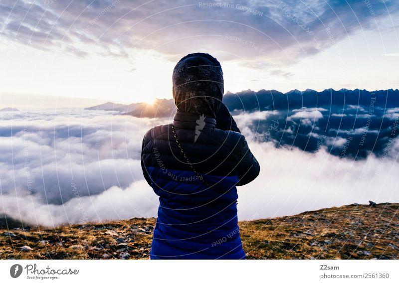 Sonnenaufgang   Alpen   Fotografieren Natur Ferien & Urlaub & Reisen Jugendliche Junge Frau Sommer Landschaft Berge u. Gebirge Lifestyle Feste & Feiern Freiheit