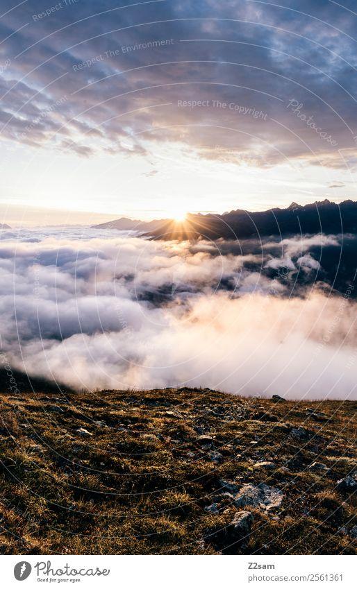 Sonnenaufgang | Pitztal | Alpen Ferien & Urlaub & Reisen Abenteuer Berge u. Gebirge Feste & Feiern Natur Landschaft Himmel Wolken Sonnenuntergang Sonnenlicht
