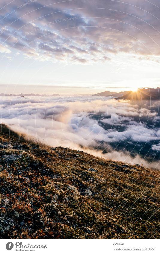 Pitztal | Sonnenaufgang | Kreuzjoch Berge u. Gebirge wandern Natur Landschaft Himmel Wolken Sonnenuntergang Sommer Schönes Wetter Alpen Gipfel fantastisch
