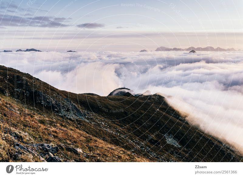 Venet Gipfel   Inntal   Sonnenaufgang Himmel Natur Sommer Landschaft Erholung Wolken Einsamkeit Ferne Berge u. Gebirge natürlich Freiheit Horizont Aussicht