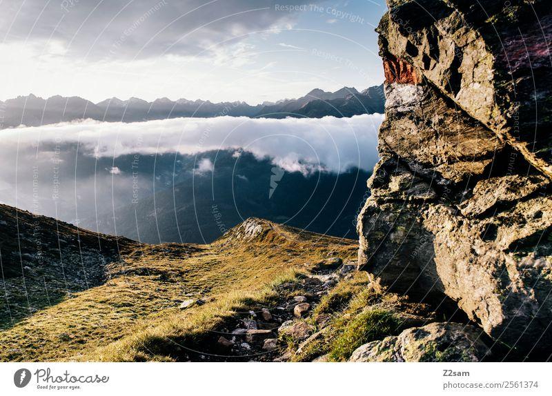 Wandern | Pitztaler Alpen | Venet Gipfel Himmel Natur Ferien & Urlaub & Reisen Landschaft Erholung Wolken Einsamkeit Berge u. Gebirge Umwelt Freiheit Felsen