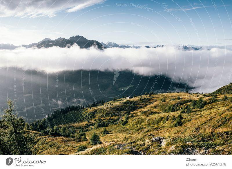 Pitztaler Alpen | Venet Berge u. Gebirge wandern Natur Landschaft Himmel Wolken Sommer Schönes Wetter Gipfel ästhetisch Ferne gigantisch Unendlichkeit natürlich